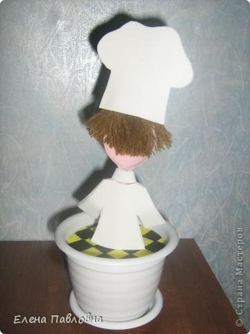 """Добрый день!Сегодня """"сварганила"""" вот такого поваренка на кухню. фото 4"""