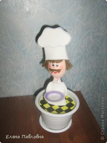"""Добрый день!Сегодня """"сварганила"""" вот такого поваренка на кухню. фото 5"""