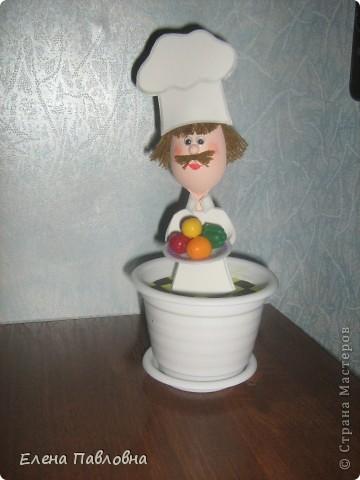 """Добрый день!Сегодня """"сварганила"""" вот такого поваренка на кухню. фото 1"""