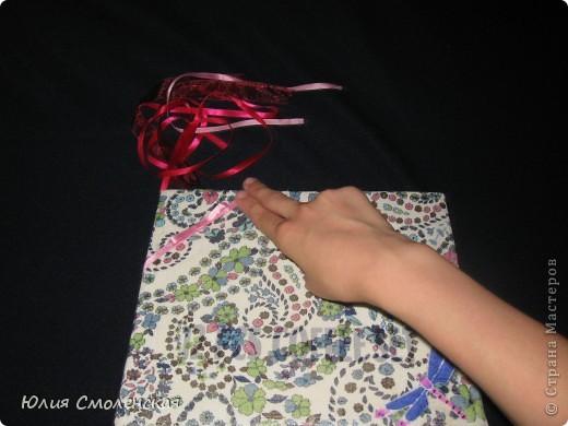 Готовим то, что нам нужно.Коробка,лоскутки ткани,атласные ленты,супер клей,линейка,ножницы,карандаш(ручка). фото 5