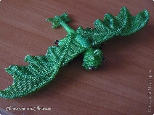 """Я думаю многие смотрели мультик """"Как приручить дракона"""".Это моя версия дракона по имени Беззубик,а если точнее его зеленой сестры(конечно в мультике ее нет,но кто запретил фантазировать?) фото 2"""