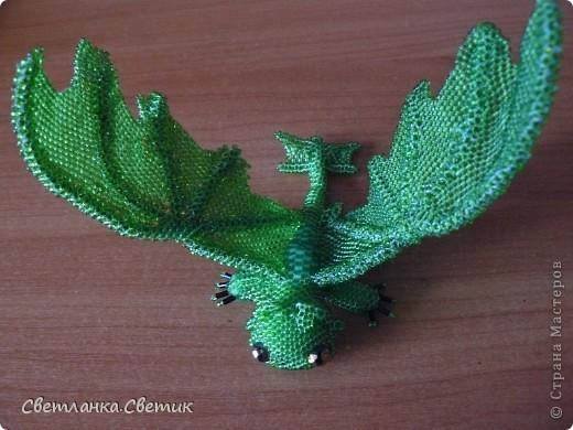 """Я думаю многие смотрели мультик """"Как приручить дракона"""".Это моя версия дракона по имени Беззубик,а если точнее его зеленой сестры(конечно в мультике ее нет,но кто запретил фантазировать?) фото 1"""