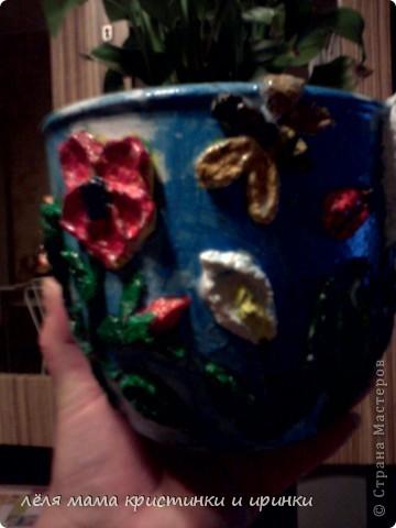 моё первое кашпо для цветов фото 1