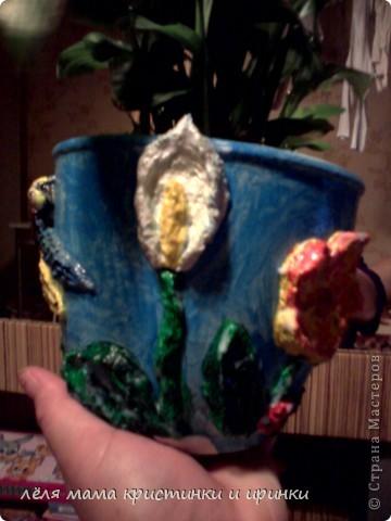 моё первое кашпо для цветов фото 2