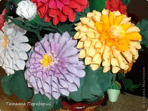 Доброго времени суток, дорогие жители СМ! Продолжаю свою серию цветочных корзинок. Сегодня хочу подарить ВАМ георгины, которые я снова поселила в корзинку от Светланы  http://stranamasterov.ru/node/377437     Георгин - каприз, непостоянство... фото 4