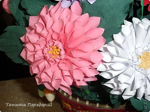 Доброго времени суток, дорогие жители СМ! Продолжаю свою серию цветочных корзинок. Сегодня хочу подарить ВАМ георгины, которые я снова поселила в корзинку от Светланы  http://stranamasterov.ru/node/377437     Георгин - каприз, непостоянство... фото 6