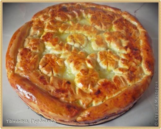 Сегодня утро пасмурное, дождливое..... Решила побаловать своих близких пирогами! Я отношусь к таким людям, которые обожают выпечку с цитрусовыми, собираю рецепты и вот очередной пирожок.Прежде чем делиться с вами рецептом, обязательно снимаем пробу!Пытаюсь хоть как то украшать!!!!! фото 1