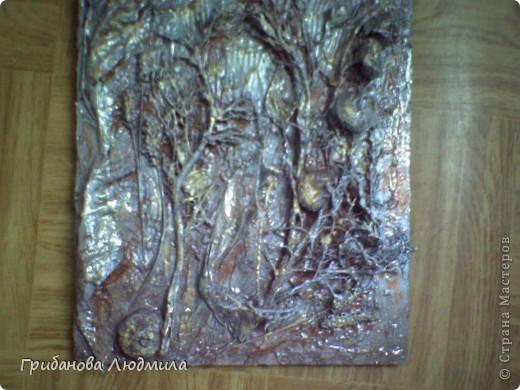 """Добрый день, всем жителям Страны! Очень мне нравятся коллажи в технике """"терра"""". Любовалась картинами Реночки http://stranamasterov.ru/node/395603, Светланы http://stranamasterov.ru/node/392413?c=favorite, Ларисы http://stranamasterov.ru/node/390777?c=favorite . Спасибо Вам за вдохновение и подробное описание.  Мои коллажи я назвала """"Путешествие к центру Земли"""". Всего три небольних картинки на которых собраны в коллаж всякие травы, желуди, стручки, засохшие листья, цветы, корешки. Когда принесла из леса полный пакет всякого """"мусора"""" , то домочадцы округлили глаза и как-то нехорошо на меня смотрели. Но я им сказала: Это терра!  И вот они в готовом виде и домочадцам они нравятся. И мне, конечно, это приятно.  фото 7"""