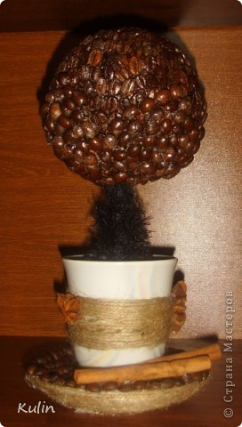 кофейное трио, высота 22 см,диаметр 14 см. В стране много уже есть чашек с блюдцем кофейный, но еще что бы с деревом,пока не видела(возможно ошибаюсь), вот решила попробовать создать композицию из трех кофейный предметов фото 13