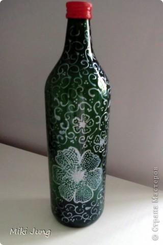 Цветы на бутылке фото 2