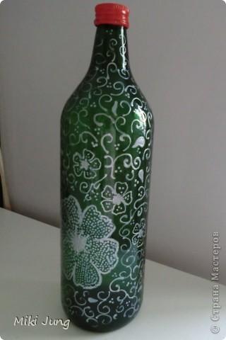 Цветы на бутылке фото 1