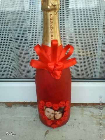 Декорация на бутилки фото 3