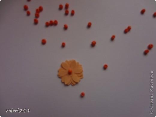 """Всем здравствуйте! Вот выставляю на показ мой первый топинарчик, который я назвала """"Рыжий-Рыжик"""".Плюс хочу выставить маленький мк по цветочкам.Делать их очень легко. (Если кто-то до меня делал такое мк ,не обижайтесь,догадалася как сделать эти цветочки сама.) Для таких цветочков нам понадобится: -бумага -силуэтный дырокол в виде цветочка или канцелярский нож -бисер или бусинки -и конечно же клей (лучше не карандаш) фото 6"""