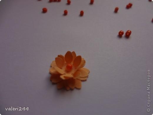 """Всем здравствуйте! Вот выставляю на показ мой первый топинарчик, который я назвала """"Рыжий-Рыжик"""".Плюс хочу выставить маленький мк по цветочкам.Делать их очень легко. (Если кто-то до меня делал такое мк ,не обижайтесь,догадалася как сделать эти цветочки сама.) Для таких цветочков нам понадобится: -бумага -силуэтный дырокол в виде цветочка или канцелярский нож -бисер или бусинки -и конечно же клей (лучше не карандаш) фото 8"""