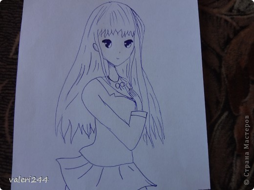 аниме как рисовать на бумаге:
