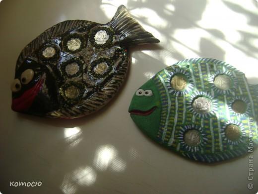 вот решила сделать денежную рыбку и сразу у моей рыбки появилась подружка в подарок фото 4