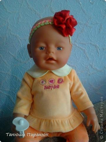 """Плетение из лент """"Повязка для куклы"""""""