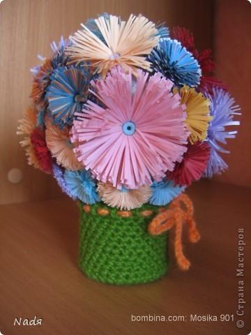 цветы делала доча - первые ее цветы в этой технике фото 2