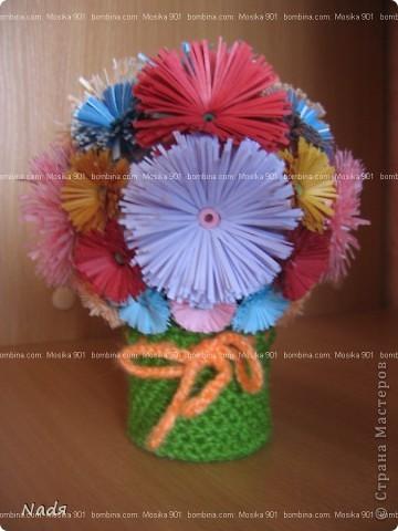 цветы делала доча - первые ее цветы в этой технике фото 1