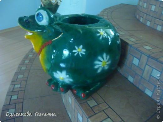 Вот такая получилась жабулька- с маникюром, с бусами... фото 3