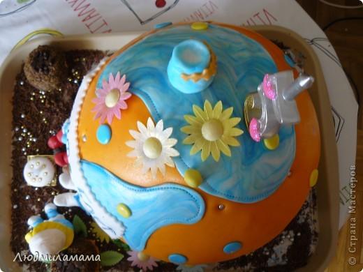 Торт Дом смурфиков . фото 3