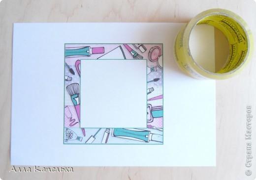 """Давно хотела сделать МК по изготовлению рамочек для открыток. Эти рамочки придумала уже давно и довела до ума, т.к. первоначальный вариант был ужасен. Итак, перед вами работа """"Сумасшедшие приятельницы"""" фото 2"""