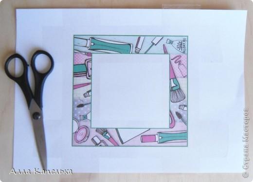 """Давно хотела сделать МК по изготовлению рамочек для открыток. Эти рамочки придумала уже давно и довела до ума, т.к. первоначальный вариант был ужасен. Итак, перед вами работа """"Сумасшедшие приятельницы"""" фото 3"""