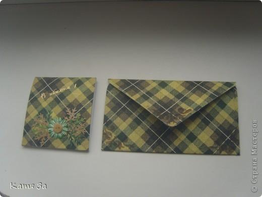 Вот такой у меня получился мужской конвертик на юбилей. фото 2