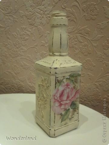 """Бутылка """"Старинная роза"""" + МК фото 14"""