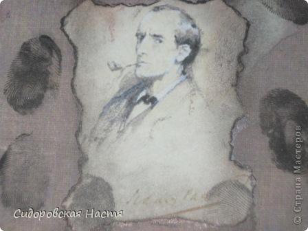 Мой первый блокнотик. Нашла в Интернете картинку с Шерлоком Холмсом и решила сделать небольшой блокнот. Прошу сильно не ругать) фото 2