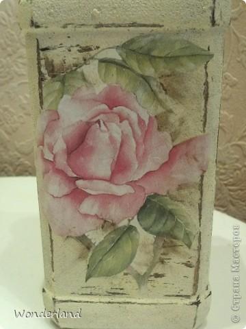 """Бутылка """"Старинная роза"""" + МК фото 15"""