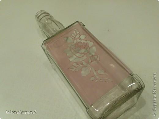 """Бутылка """"Старинная роза"""" + МК фото 7"""