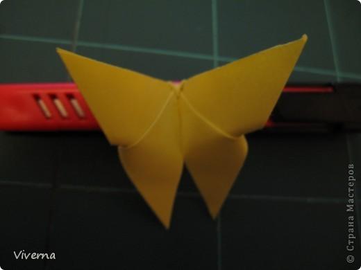 спросили меня в этой работе, как бабочку делала... http://stranamasterov.ru/node/396350  поискала, не нашла в СМ, чтобы ссылку дать..может искала не так....сама я ее научилась делать еще на заре увлечения оригами, лет 10 назад, в какой-то детской книжке...а т.к. складывается бабочка до невозможного просто, то сделав ее один раз, Вы уже никогда не забудете, как ее сделать )) фото 7