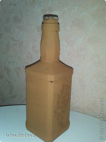 """Бутылка """"Старинная роза"""" + МК фото 10"""