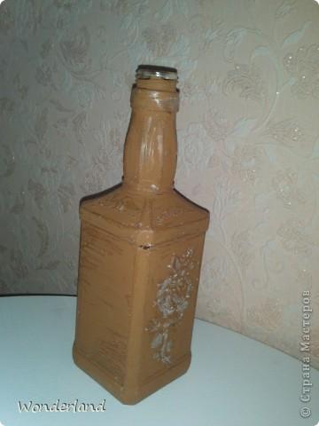 """Бутылка """"Старинная роза"""" + МК фото 11"""