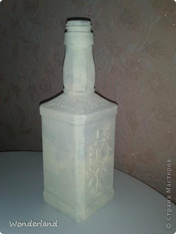 """Бутылка """"Старинная роза"""" + МК фото 12"""