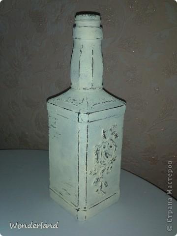 """Бутылка """"Старинная роза"""" + МК фото 13"""