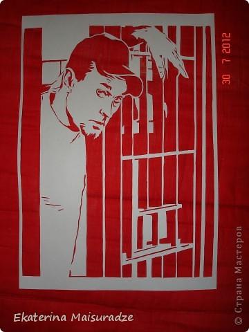 """Роберт Лайл Неппер (Robert Lyle Knepper) в роли наверно самого негативного  героя и в тоже время публика признала его лучшим героем очень знаменитого телесериала """"Побег из тюрьмы"""" - ТЕОДОР БЭГВЕЛЛ - Ти-Бэг (Theodore Bagwell)!!!    Эту работу я посвящаю дорогому мне человеку - моему супругу. Спросите: """"как??? такого героя и мужу???"""" А именно благодаря этому сериалу и именно этому Ти-Бэгу мы с ним и познакомились ))) Но это уже другая история...)))  фото 2"""