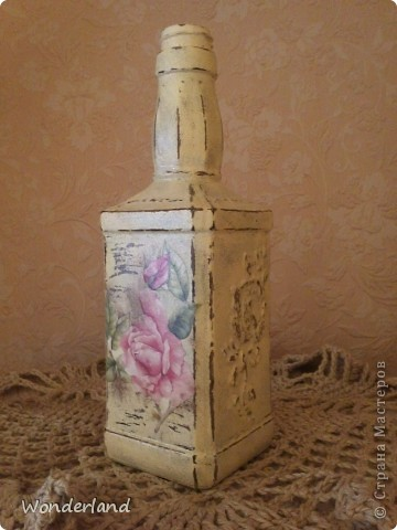 """Бутылка """"Старинная роза"""" + МК фото 3"""