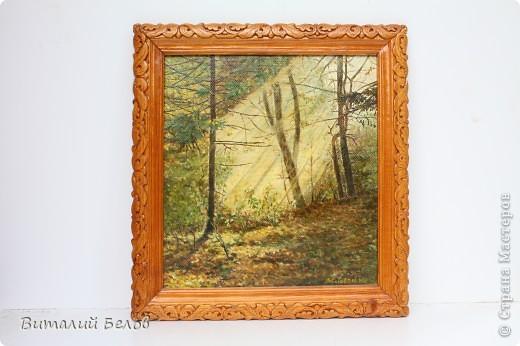 """Картина """" Луч света в лесной чаще"""""""