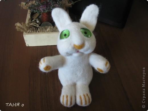кролик из шерсти фото 1