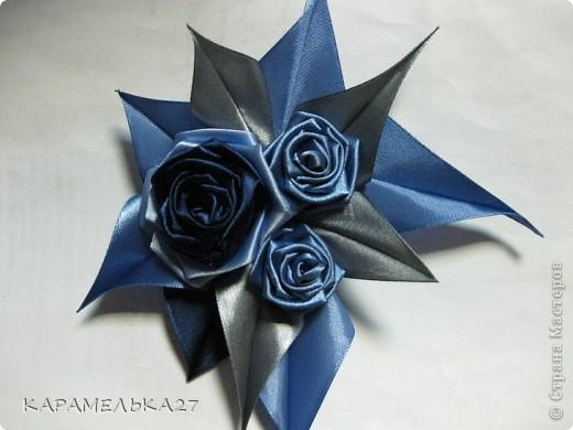 Доброго дня всем жителям страны выкладываю еще несколько работ. голубая мечта. ободок фото 4