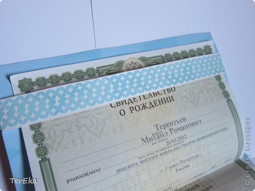 по мастер-классу Анны Демаковой (http://stranamasterov.ru/node/358677?tid=1398) решила сделать самое необходимое сейчас - обложку для свидетельства о рождении своего сыночка. Анна, спасибо Вам за понятный и полезный мастер-класс! фото 2