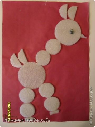 Аппликация из геометрических фигур, занятие с детьми 3-4 лет.  фото 2