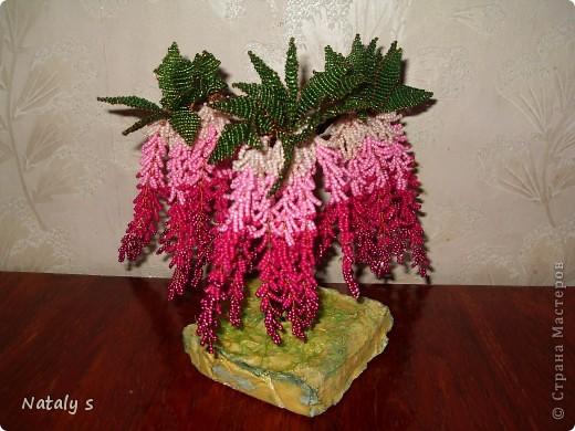 Поделка изделие Бисероплетение Деревья и цветы из бисера Бисер фото 12.