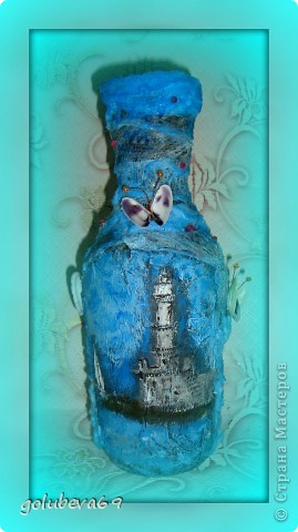 Вазочка в морском стиле, декорированная морскими ракушками. фото 6