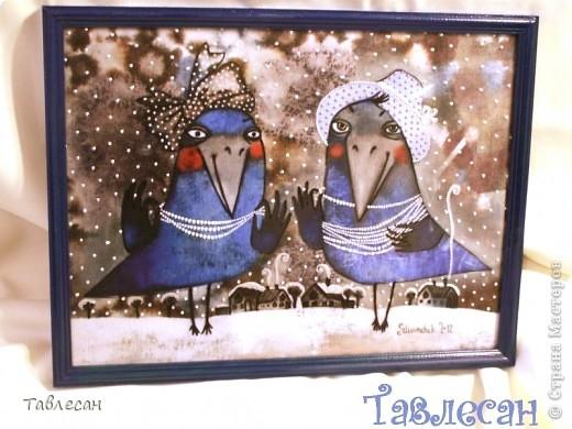 По просьбе сделала вот такое панно по картине любимой мной Анны Силивончик. Картина называется «Красотки».