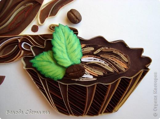 """На Хомячке стартовало новое квиллинг задание """"Десерт"""" : http://homyachok-scrap-challenge.blogspot.com/  Приглашаю посмотреть потрясающие работы дизайнеров!!! А ещё приглашаю Вас присоединиться к нашему заданию со своими сладостями и вкусностями.... Ведь счастье можно приготовить своими руками!!!! Миллионы женщин любят осень... Листопад и звон дождливых струй... Тщательно отмеренные дозы - Кофе... Шоколад... И поцелуй... У меня родился кофейный десерт...  фото 3"""