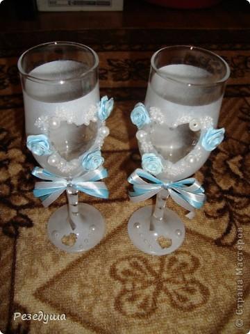 Украшение бокалов и шампанского (Первая работа не судите строго) фото 3