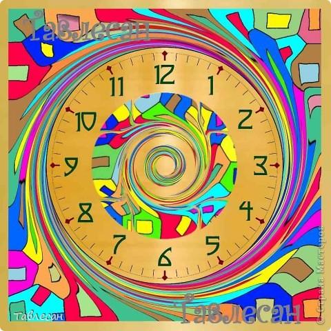 """Часы """"Хундертвассер в стиле Фрей Вилл в моей интерпретации"""" фото 7"""